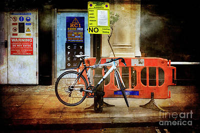 Photograph - Warning Bicycle Suspended by Craig J Satterlee