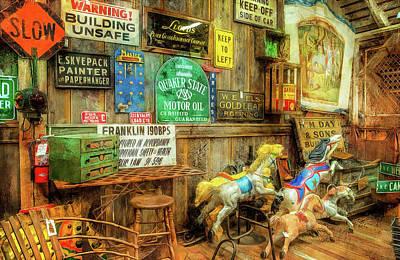 Photograph - Warning Building Unsafe by Thom Zehrfeld