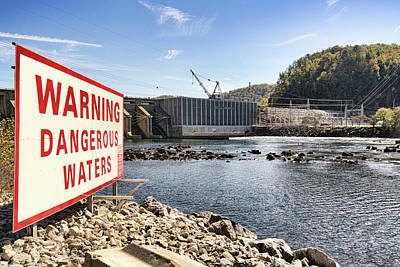 Photograph - Warning Dangerous Waters by Sharon Popek