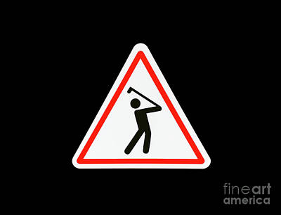 Photograph - Warning Golfer by Mats Silvan