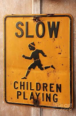 Warning Sign Print by Helmut Meyer zur Capellen