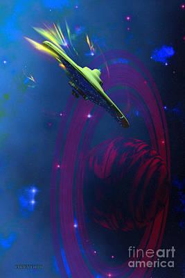 Jet Star Digital Art - Warp Pulse by Corey Ford