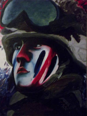 Twin Towers Nyc Painting - Warpaint by T Fischler