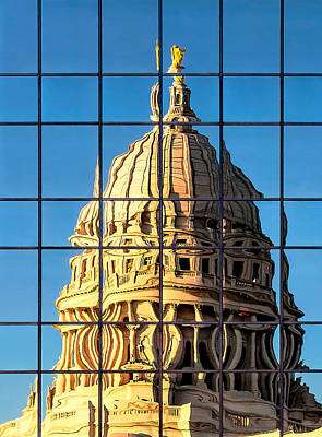 Photograph - Warped Capitol by Todd Klassy
