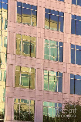 Photograph - Warped Window Reflectionss by Linda Phelps