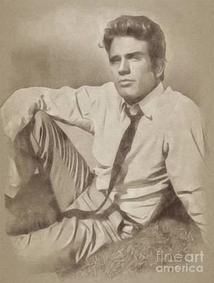 Warren Beatty Drawing - Warren Beatty, Hollywood Legend By John Springfield by John Springfield