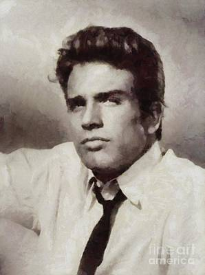 Warren Beatty Painting - Warren Beatty, Vintage Actor by Sarah Kirk