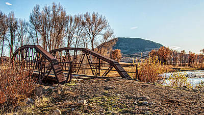 Photograph - Warren Bridge On Elk River by Daniel Hebard
