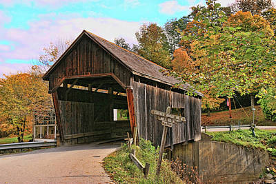 Photograph - Warren Covered Bridge by Allen Beatty