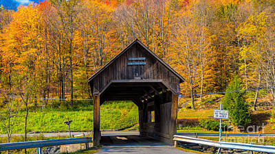 Photograph - Warren Covered Bridge by Scenic Vermont Photography
