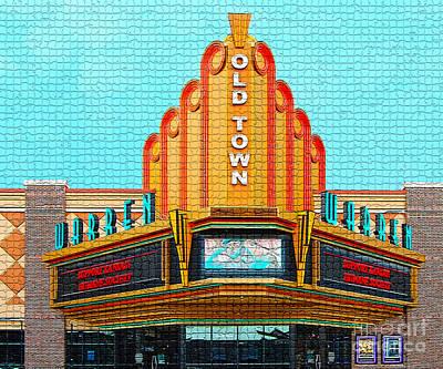 Indoor Mixed Media - Warren Theater In Tile by Garland Johnson
