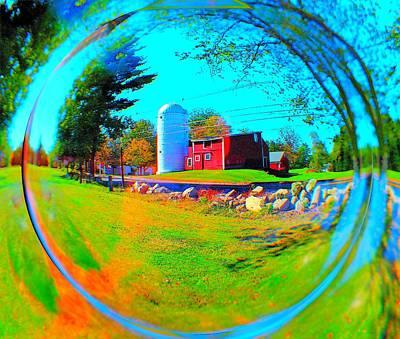 Digital Art - Warren Woods Barn by Cliff Wilson