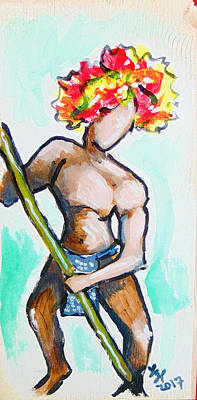 Painting - Warrior 56 by Loretta Nash