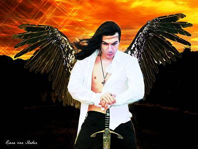 Digital Art - Warrior - Archangel Michael  by Riana Van Staden