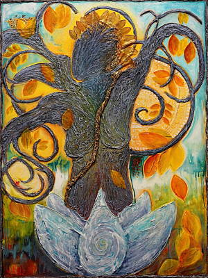 Painting - Warrior Bodhisattva by Theresa Marie Johnson