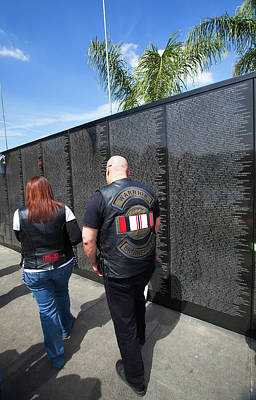 Photograph - Warrior Brotherhood - Travelling Vietnam Memorial Wall by Ram Vasudev