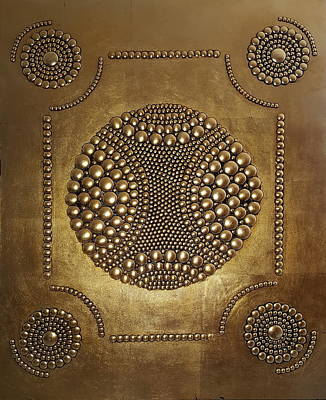 Rivets Painting -  Warrior Crest  by Dusko Trifunovic