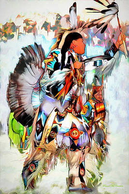Mixed Media - Warrior Dance by Pennie  McCracken