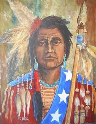 Lynn Burton Wall Art - Painting - Warrior Elote by Lynn Burton