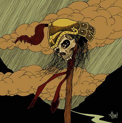 Drawing - Warrior Soul by Bard Algol