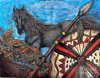 Painting - Warrior Spirit by Kim Jones