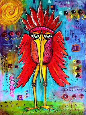 Painting - Warrior Spirit by Vickie Scarlett-Fisher