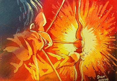 Painting - Warrior by Starr Weems