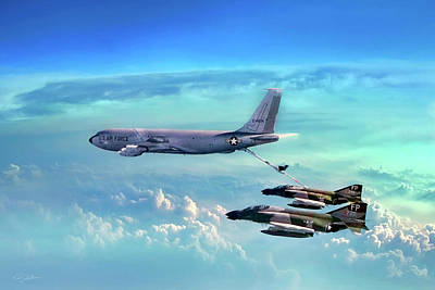 Jet Digital Art - Warrior Teamwork by Peter Chilelli