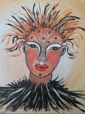 Art Print featuring the painting Warrior Woman  #3 by Sharyn Winters