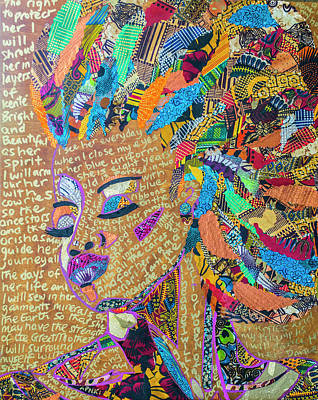 Tapestry - Textile - Warrior Woman by Apanaki Temitayo M
