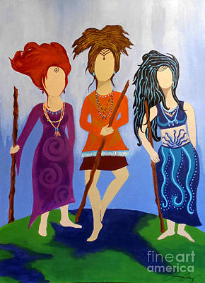 Painting - Warrior Woman Sisterhood by Jean Fry