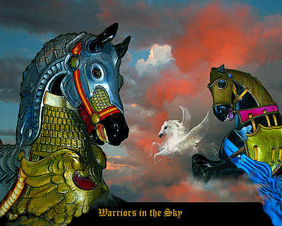 Warriors In The Sky Art Print by Bette Gray