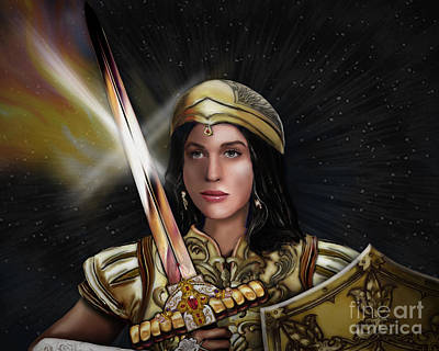 Warrioress Painting - Warrioress The Bride by Todd L Thomas