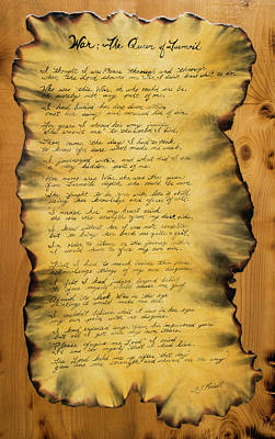Painting - War's Poem by Sheri Jo Posselt