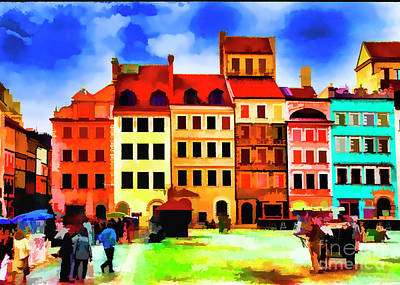 Digital Art - Warsaw 1990 by Rick Bragan