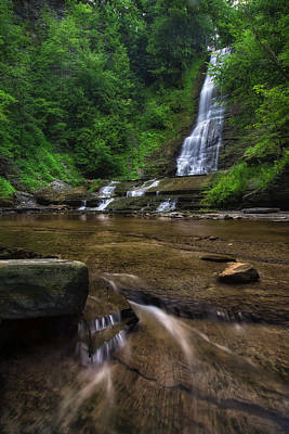 Art Print featuring the photograph Warsaw Falls 2 by Mark Papke