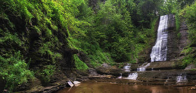 Art Print featuring the photograph Warsaw Falls by Mark Papke