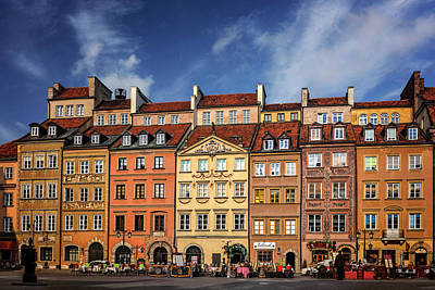 Photograph - Warsaw Old Town Market Square  by Carol Japp