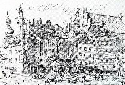 Warsaw, Poland, Zamkovaya Square Original