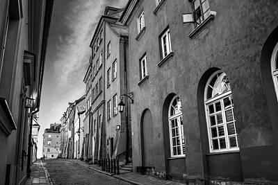 Photograph - Warsaw Street In Black And White  by Carol Japp