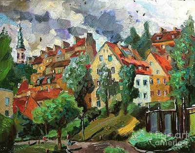 Painting - Warsaw.view Of The House Of Mercy by Nina Silaeva