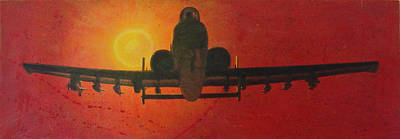 Interceptor Painting - Warthog by Ken Bruzenak