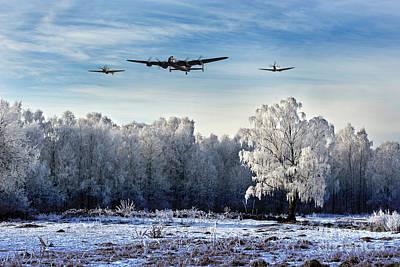 Wartime Winter Art Print by J Biggadike