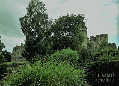 Photograph - Warwick Castle Bathed In Green Light by Linda Prewer