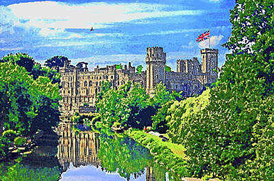 Warwick Castle Art Print by Peter Allen