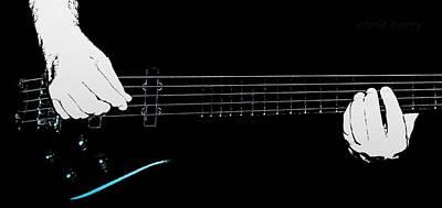 Warwick Five String Bass Art Print by Chris Berry