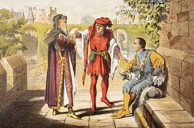 Warwick Speaks In King Henry Vi Act II Print by Vintage Design Pics