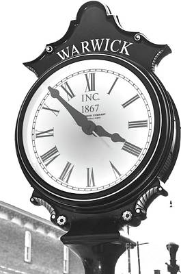 Photograph - Warwick Train Clock  by Robert Meanor