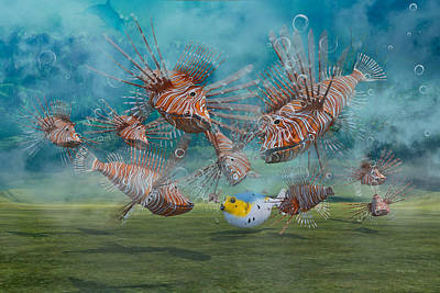 Puffer Fish Digital Art - Was It Something I Said by Betsy Knapp