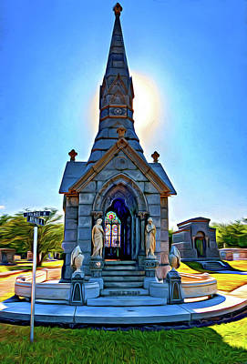 Metairie Cemetery Photograph - Was On Avenues Am - Paint by Steve Harrington